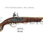 1077L Flintlock pistol, 18th. Century
