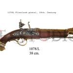 1078L Flintlock pistol, 18th. Century