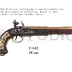 1084L Flintlock dueling pistol manufactured by the craftsman master of Versailles, Boutet in 1810 ( Royal Collection, Windsor Castel) copy