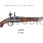 1102G Flintlock pistol, 18th. Century