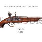 1103G Pirate flintlock pistol, 18th. Century