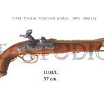 1104L Italian flintlock pistol, 18th. Century