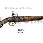 1196L British pistol, 18th. Century
