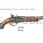 1219G Blunderbuss-pistola, London 18th. Century
