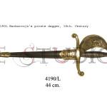 4190L Barbarroja's pirate dagger, 16th. Century