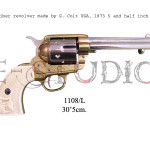45 caliber revolver made by S. Colt USA, 1873 5 and half inch barrel c b