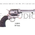 45 caliber revolver made by S. Colt USA, 1873 5 and half inch barrel p