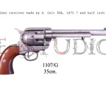 45 caliber revolver made by S. Colt USA, 1873 7 and half inch barrel p