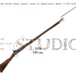 British Brown Bess musket used in Napoleonic Wars (1799-1815) copy