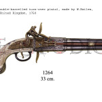 Double-barrelled turn-over pistol, made by W.Bailes, United Kingdom, 1750