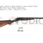 Double cannon clipped shotgun, used by Wyatt Earp, USA 1881. Wyatt Berry Stapp Earp (March 19, 1848 - January 13, 1929