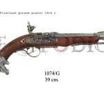 Flintlock pirate pistol, 18th. C