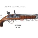 Flintlock pistol, 18th. Century