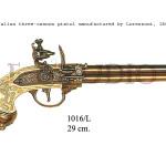 Italian three-cannon pistol manufactured by Lorenzoni, 1680 b copy
