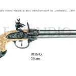Italian three-cannon pistol manufactured by Lorenzoni 1680 p copy