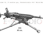 Kulomet Vz. 37 machine gun, Czechoslovakia 1937 (Wolrd War II)