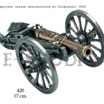 Napoleon cannon, manufactured by Gribeauval, 1806 copy