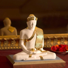 E-Studio Buddha White & Gold