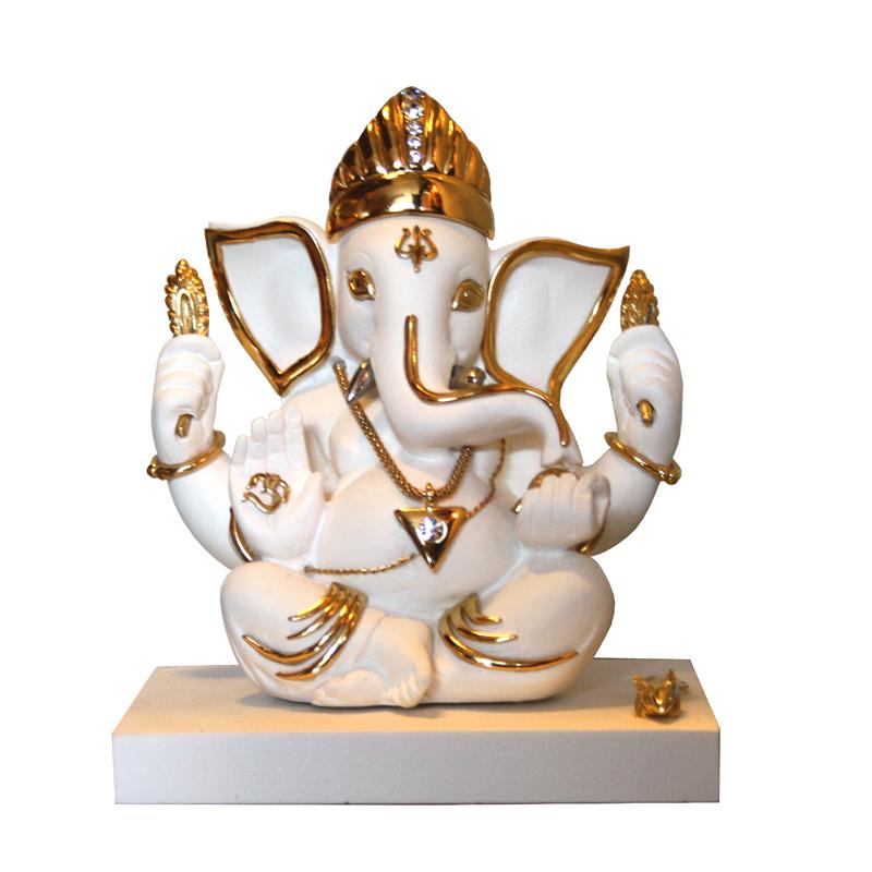 porcelain ganesha caturbhuja (01) white
