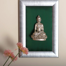 92.5% Sterling Silver Plated Buddha Frame