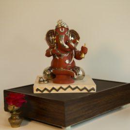Ganesha Worshiping Lingam